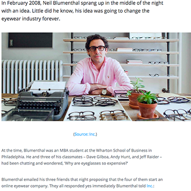 ffd2409c63d Warby Parker  How four students turned the eyewear industry on its head