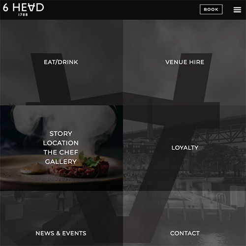 Restaurant website copy